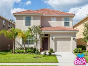 Aluguel de casa na Disney em Orlando fachada