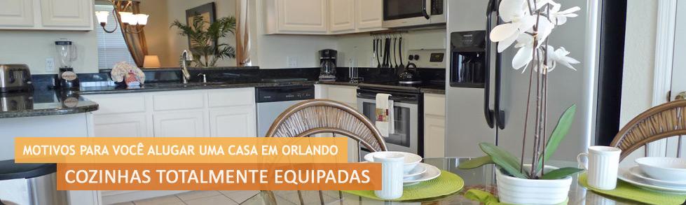 Casa para alugar em Orlando com cozinha totalmente equipada