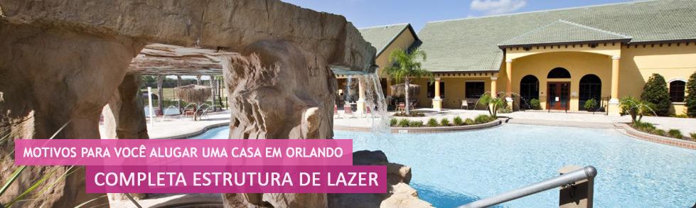 Casas para alugar em Orlando com completa estrutura de Lazer